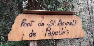 Font de Sant Ampèlit i la Torre dels Moros