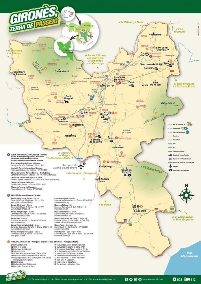 mapa gironès terra passeig