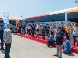 Una flota de vint autobusos de Moventis promociona la Costa Brava dins del territori català